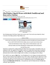 Lo Chef Matteo Vigotti stupisce con una cucina tradizionale ed innovativa