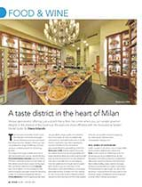 WHERE MILAN A taste district in the heart of Milan