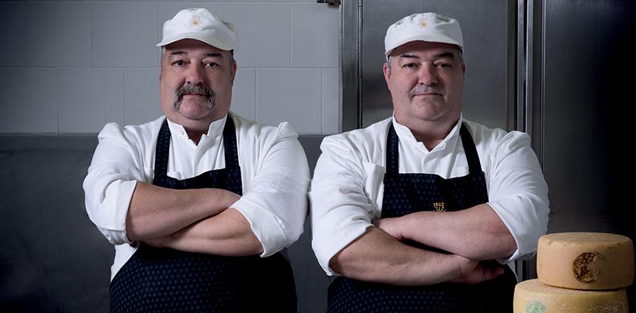 Davide e Albino Tirelli cheese makers