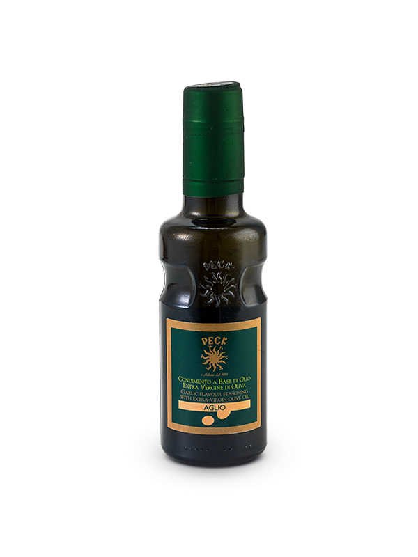 Garlic flavoured extra virgin olive oil seasoning 25 cl