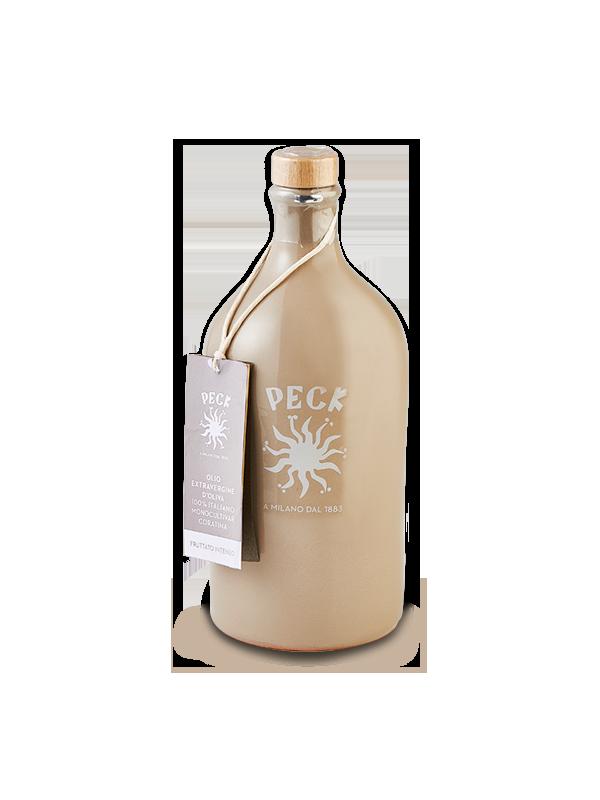 Intense fruity extra virgin olive oil in ceramic pot 500 ml