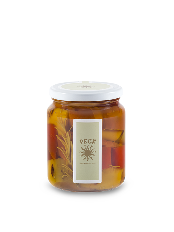 Rosemary-scented roasted peppers with in oil 360 g